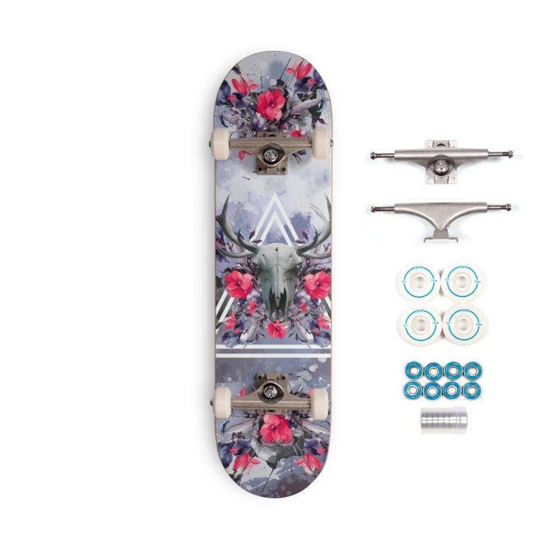 Floral deerprint Accessories Skateboard by Art & design by Maria Daniela Hästö