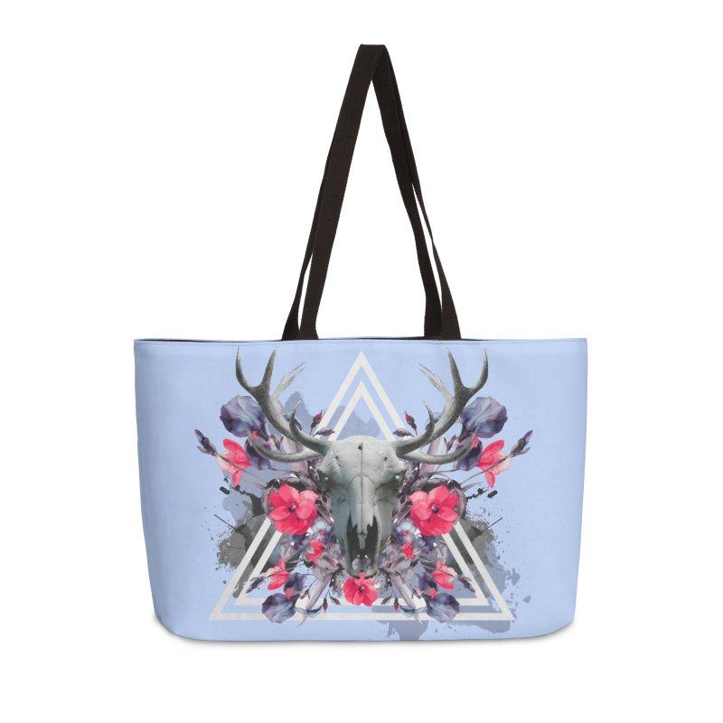 Floral deerprint Accessories Bag by Art & design by Maria Daniela Hästö