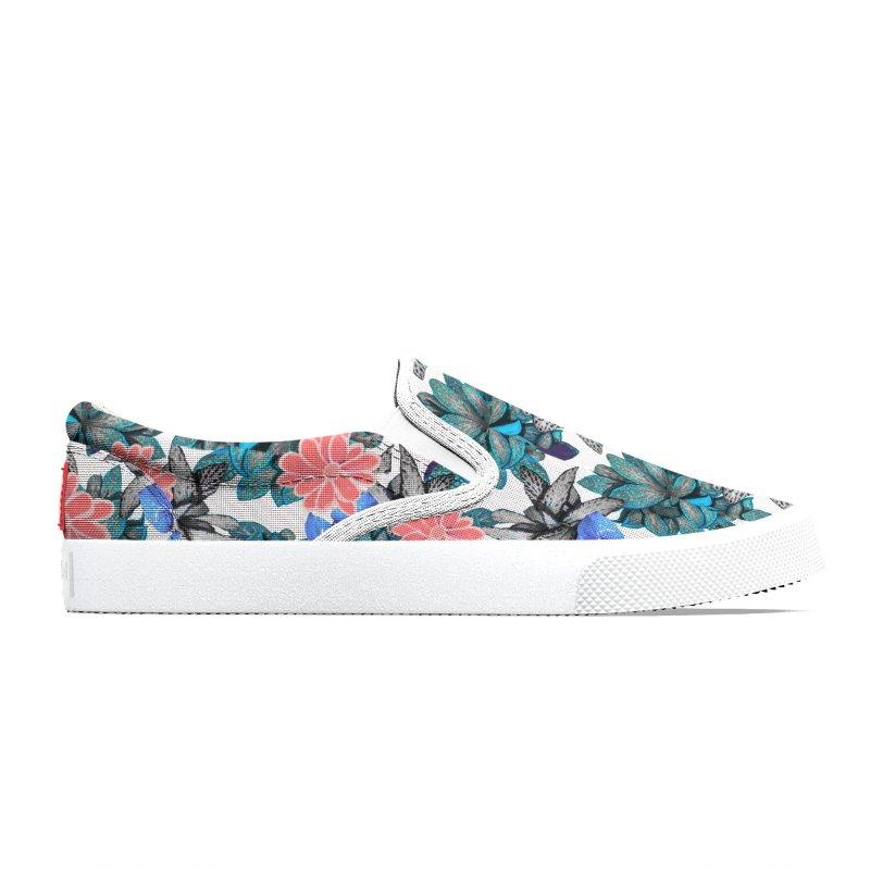 Tropocal plant pattern Women's Shoes by Art & design by Maria Daniela Hästö