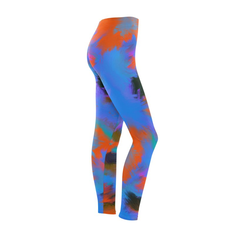 Abstract blue red pattern Women's Bottoms by Art & design by Maria Daniela Hästö