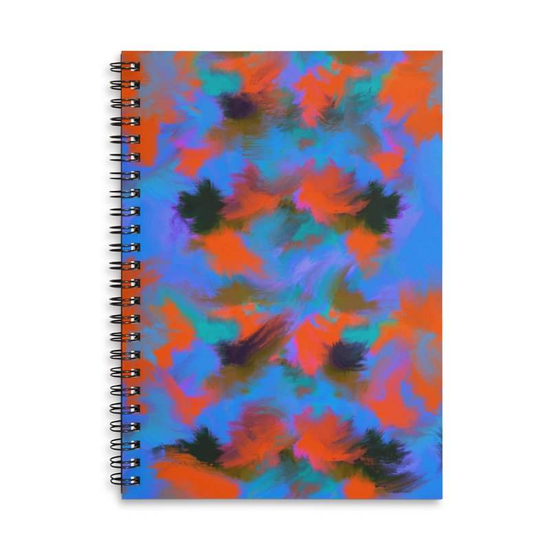 Abstract blue red pattern Accessories Notebook by Art & design by Maria Daniela Hästö