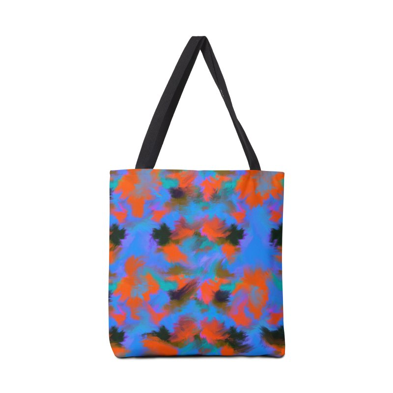 Abstract blue red pattern Accessories Bag by Art & design by Maria Daniela Hästö