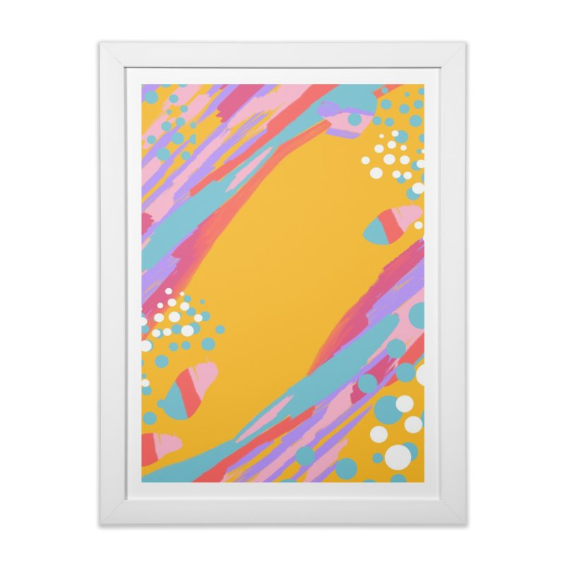 funky abstract print Home Framed Fine Art Print by Art & design by Maria Daniela Hästö