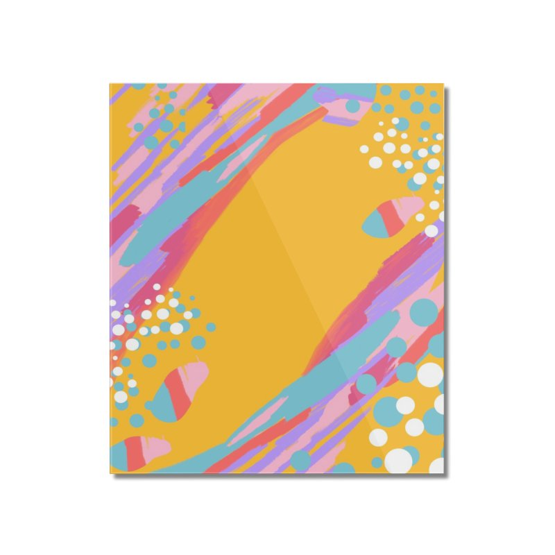 funky abstract print Home Mounted Acrylic Print by Art & design by Maria Daniela Hästö