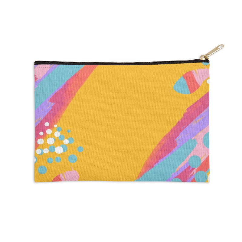 funky abstract print Accessories Zip Pouch by Art & design by Maria Daniela Hästö