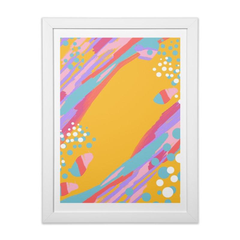 funky abstract print Home Framed Fine Art Print by Art & design by Maria Daniela Hästö