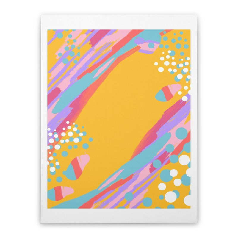 funky abstract print Home Stretched Canvas by Art & design by Maria Daniela Hästö