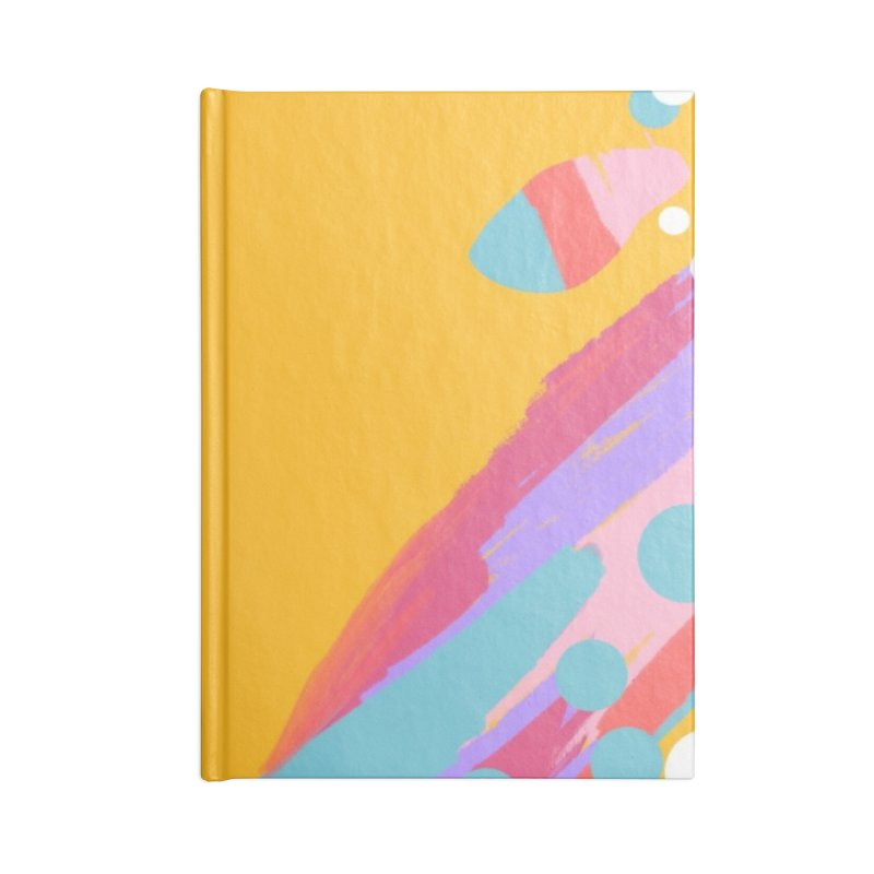 funky abstract print Accessories Notebook by Art & design by Maria Daniela Hästö