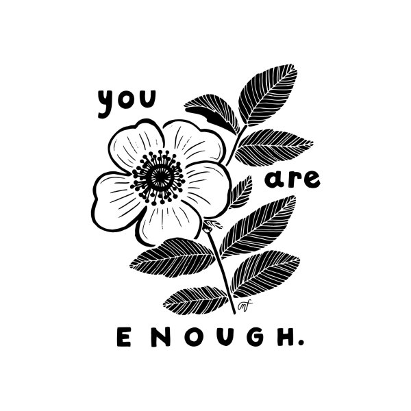 image for you are enough - black