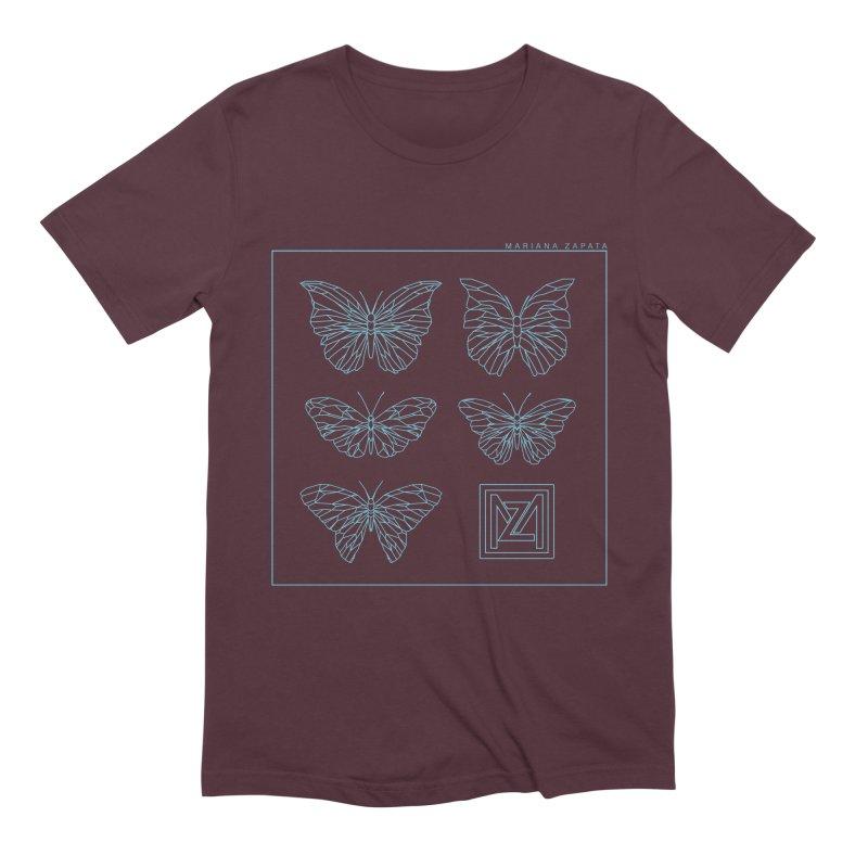 MZ Butterflies 1 Men's Extra Soft T-Shirt by M A R I A N A    Z A P A T A