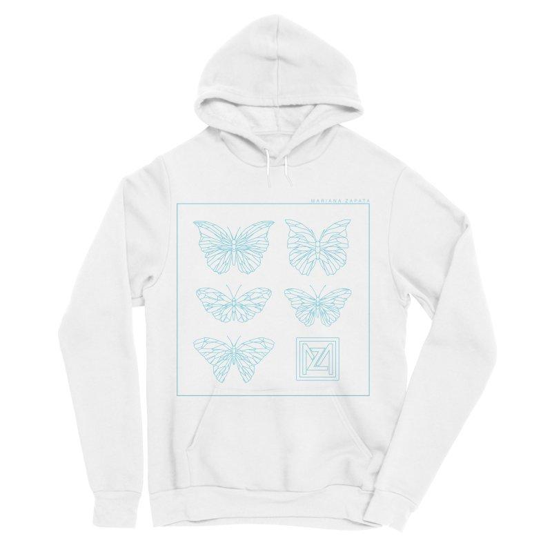 MZ Butterflies 1 Women's Sponge Fleece Pullover Hoody by M A R I A N A    Z A P A T A