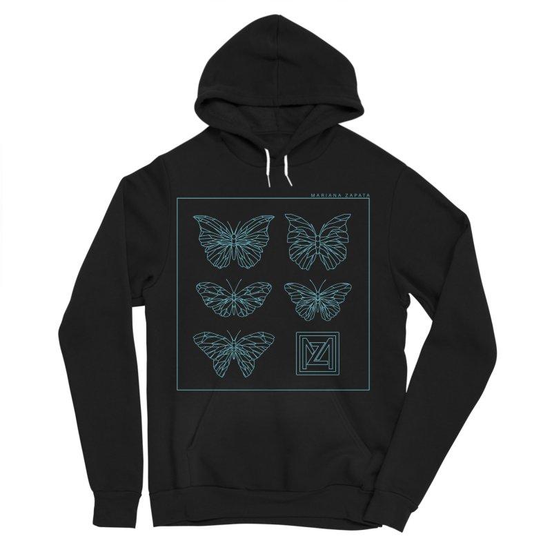 MZ Butterflies 1 Men's Sponge Fleece Pullover Hoody by M A R I A N A    Z A P A T A