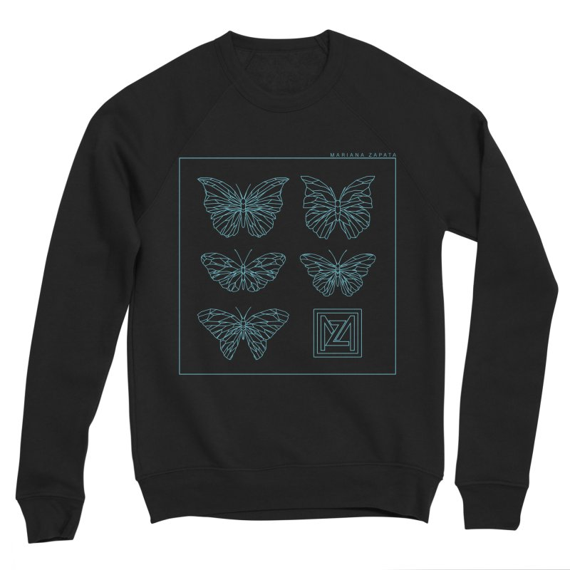 MZ Butterflies 1 Men's Sponge Fleece Sweatshirt by M A R I A N A    Z A P A T A