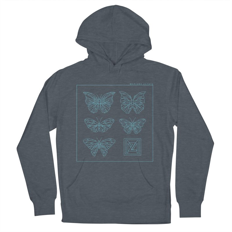 MZ Butterflies 1 Men's French Terry Pullover Hoody by M A R I A N A    Z A P A T A