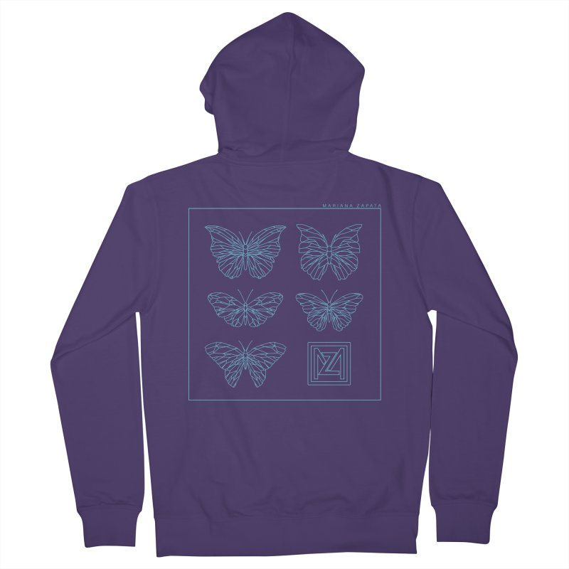 MZ Butterflies 1 Women's French Terry Zip-Up Hoody by M A R I A N A    Z A P A T A