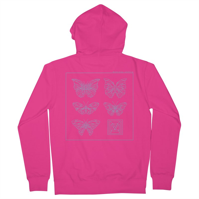 MZ Butterflies 1 Men's French Terry Zip-Up Hoody by M A R I A N A    Z A P A T A