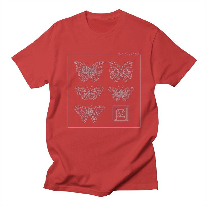 MZ Butterflies 1 Men's Regular T-Shirt by M A R I A N A    Z A P A T A