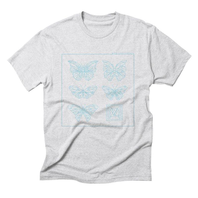 MZ Butterflies 1 Men's Triblend T-Shirt by M A R I A N A    Z A P A T A