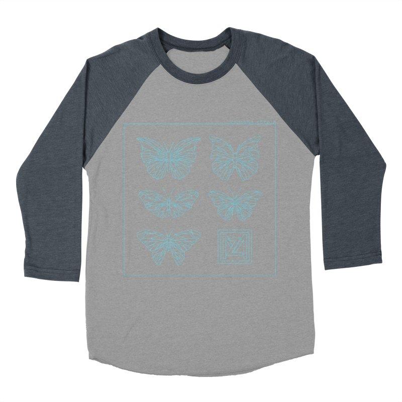 MZ Butterflies 1 Men's Baseball Triblend Longsleeve T-Shirt by M A R I A N A    Z A P A T A