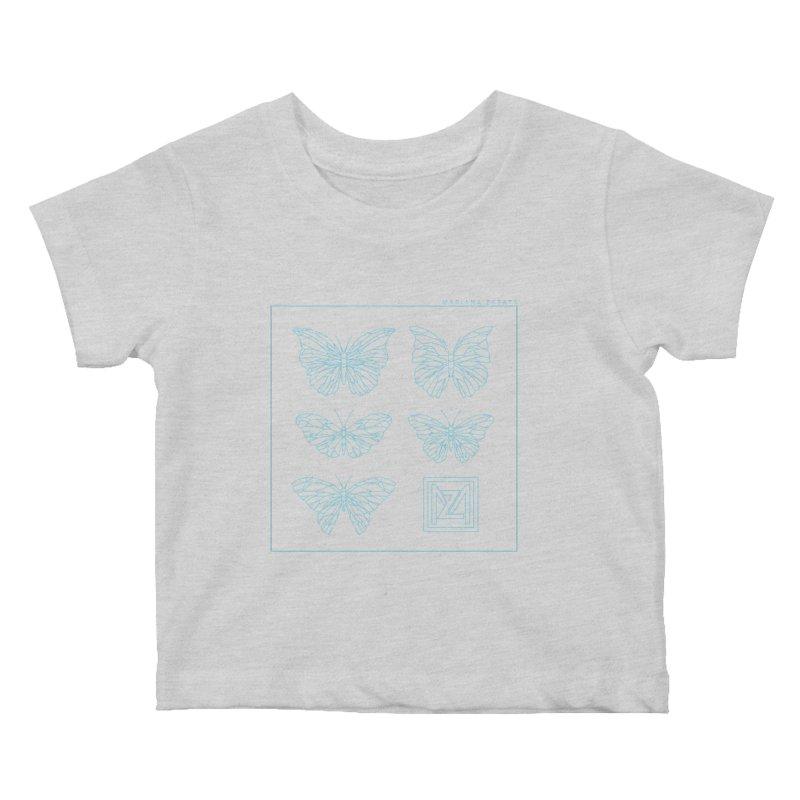 MZ Butterflies 1 Kids Baby T-Shirt by M A R I A N A    Z A P A T A