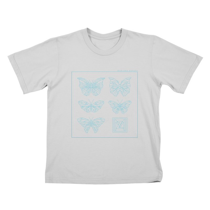 MZ Butterflies 1 Kids T-Shirt by M A R I A N A    Z A P A T A