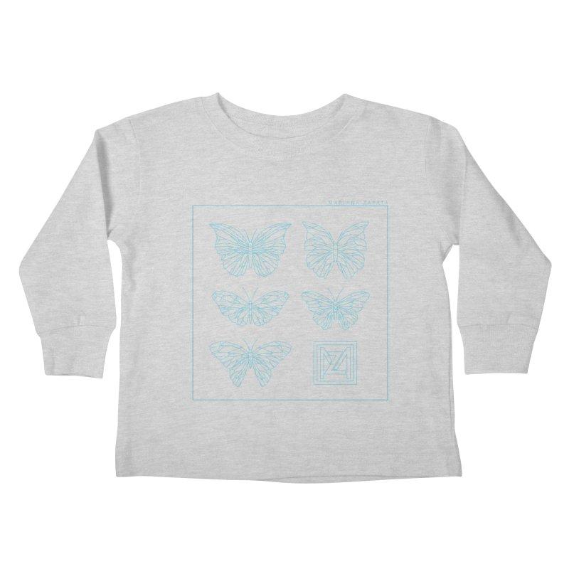 MZ Butterflies 1 Kids Toddler Longsleeve T-Shirt by M A R I A N A    Z A P A T A