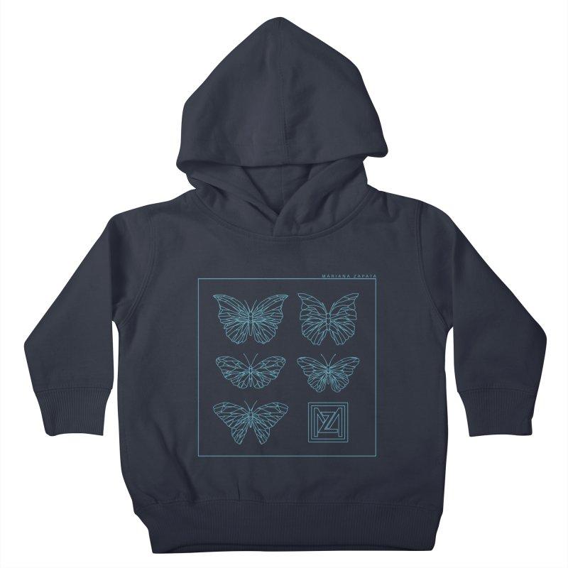 MZ Butterflies 1 Kids Toddler Pullover Hoody by M A R I A N A    Z A P A T A
