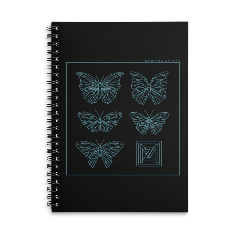 MZ Butterflies 1 Accessories Lined Spiral Notebook by M A R I A N A    Z A P A T A