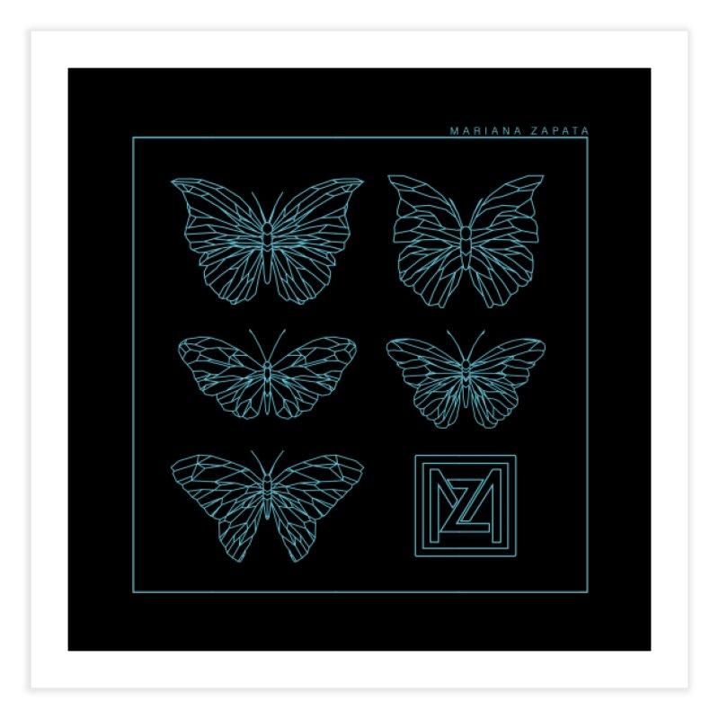 MZ Butterflies 1 Home Fine Art Print by M A R I A N A    Z A P A T A