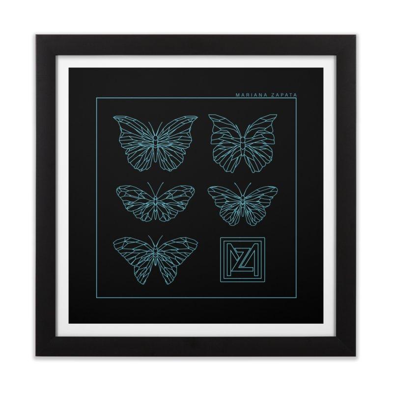 MZ Butterflies 1 Home Framed Fine Art Print by M A R I A N A    Z A P A T A