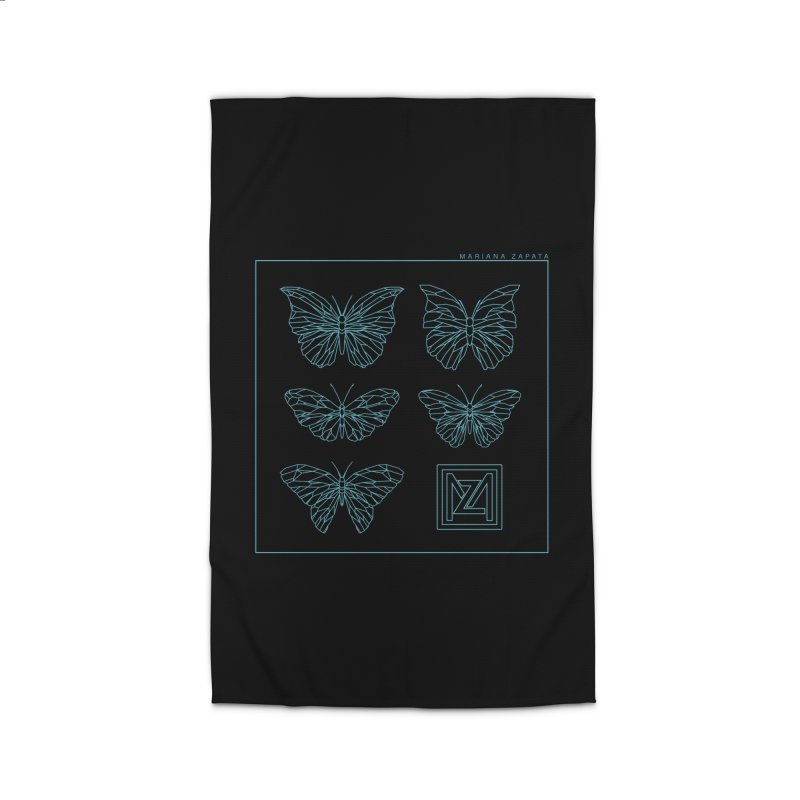 MZ Butterflies 1 Home Rug by M A R I A N A    Z A P A T A