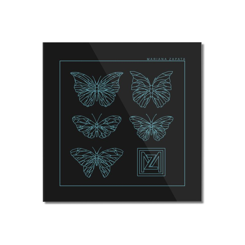 MZ Butterflies 1 Home Mounted Acrylic Print by M A R I A N A    Z A P A T A