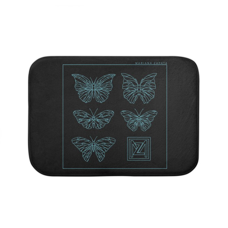 MZ Butterflies 1 Home Bath Mat by M A R I A N A    Z A P A T A