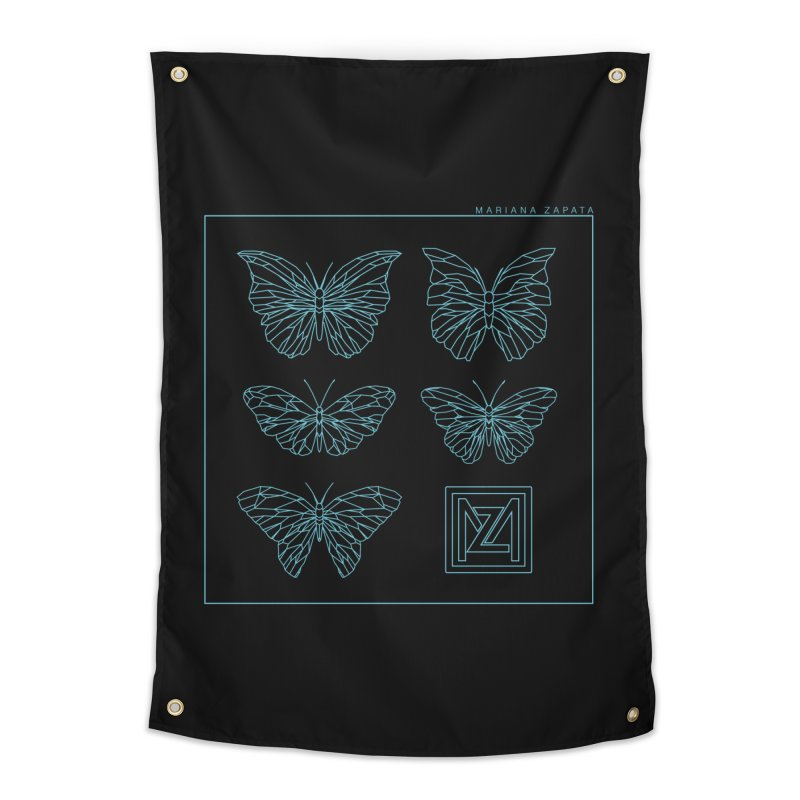 MZ Butterflies 1 Home Tapestry by M A R I A N A    Z A P A T A