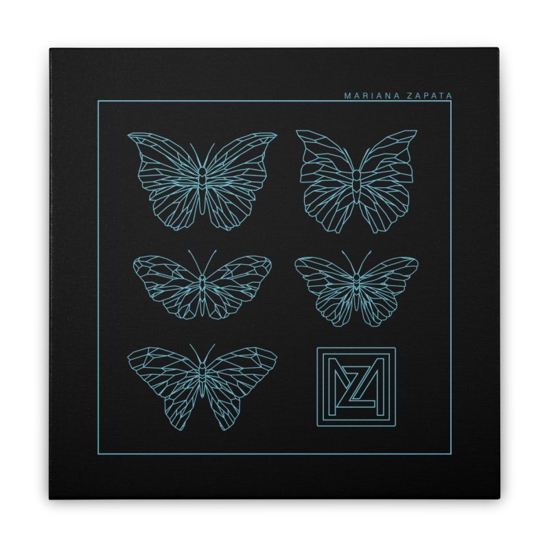 MZ Butterflies 1 Home Stretched Canvas by M A R I A N A    Z A P A T A