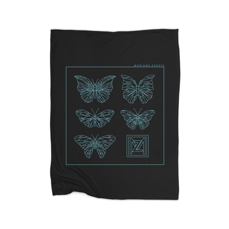 MZ Butterflies 1 Home Fleece Blanket Blanket by M A R I A N A    Z A P A T A