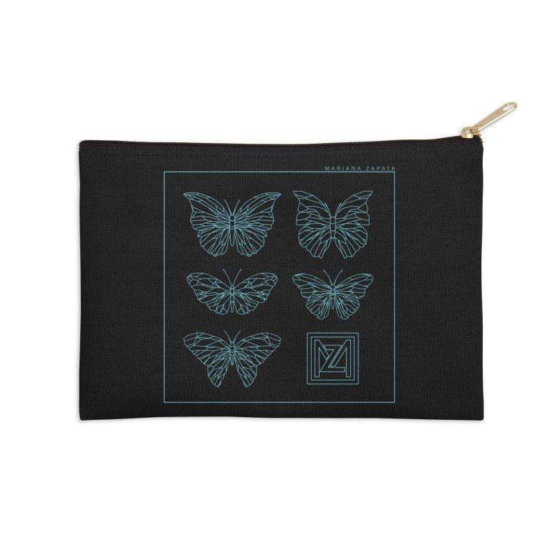 MZ Butterflies 1 Accessories Zip Pouch by M A R I A N A    Z A P A T A