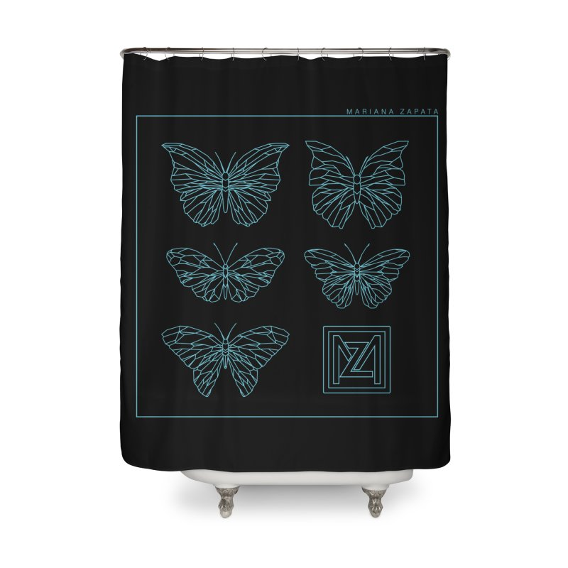 MZ Butterflies 1 Home Shower Curtain by M A R I A N A    Z A P A T A