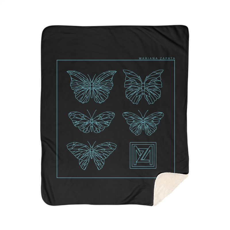 MZ Butterflies 1 Home Sherpa Blanket Blanket by M A R I A N A    Z A P A T A
