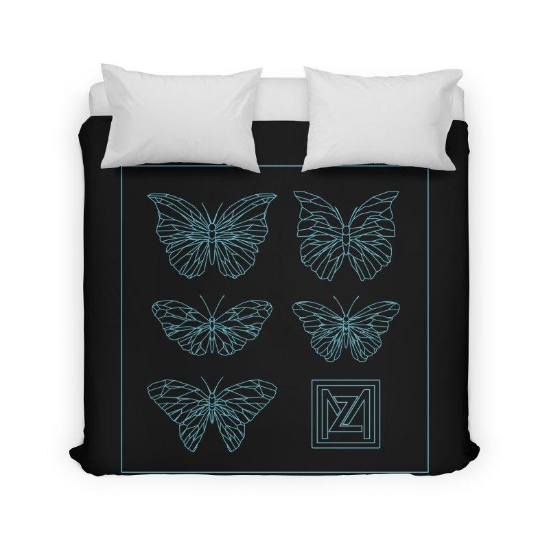 MZ Butterflies 1 Home Duvet by M A R I A N A    Z A P A T A