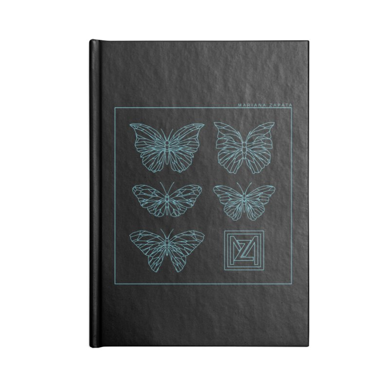 MZ Butterflies 1 Accessories Blank Journal Notebook by M A R I A N A    Z A P A T A
