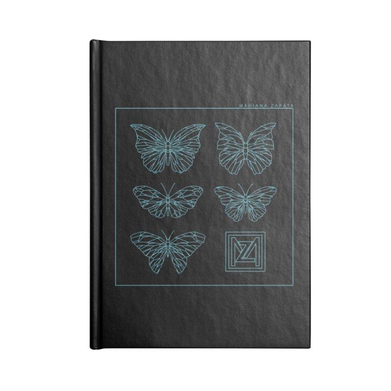 MZ Butterflies 1 Accessories Lined Journal Notebook by M A R I A N A    Z A P A T A