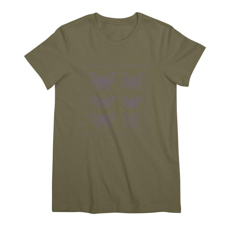 MZ Butterflies 2 Women's Premium T-Shirt by M A R I A N A    Z A P A T A