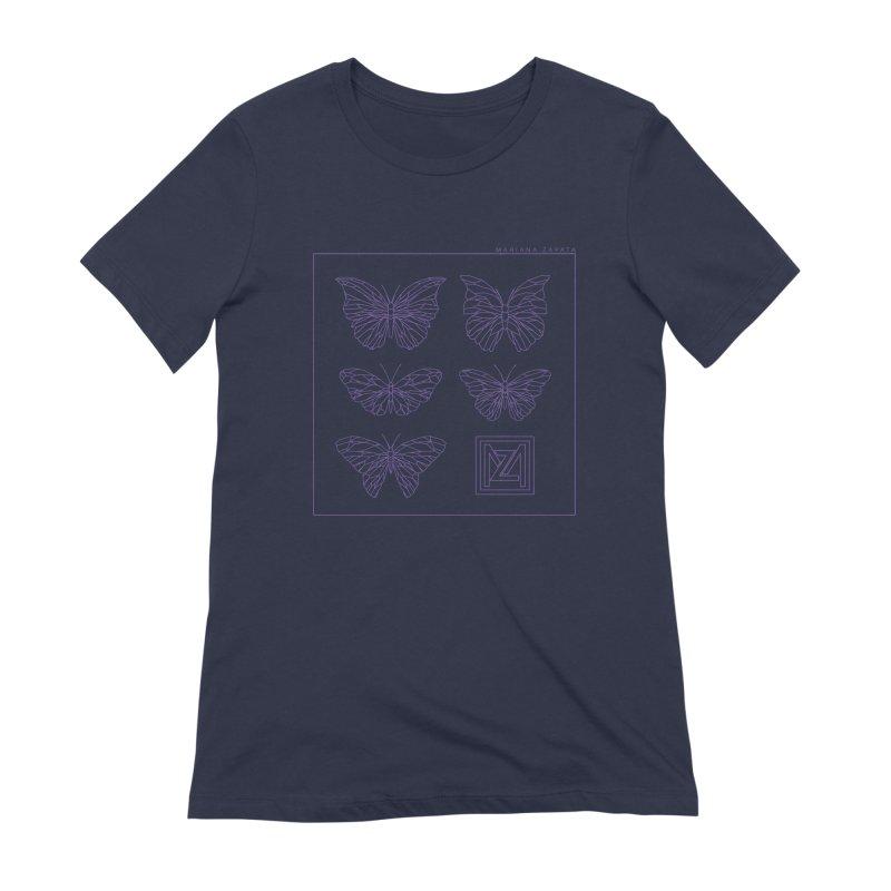 MZ Butterflies 2 Women's Extra Soft T-Shirt by M A R I A N A    Z A P A T A