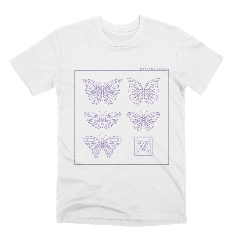 MZ Butterflies 2 Men's Premium T-Shirt by M A R I A N A    Z A P A T A