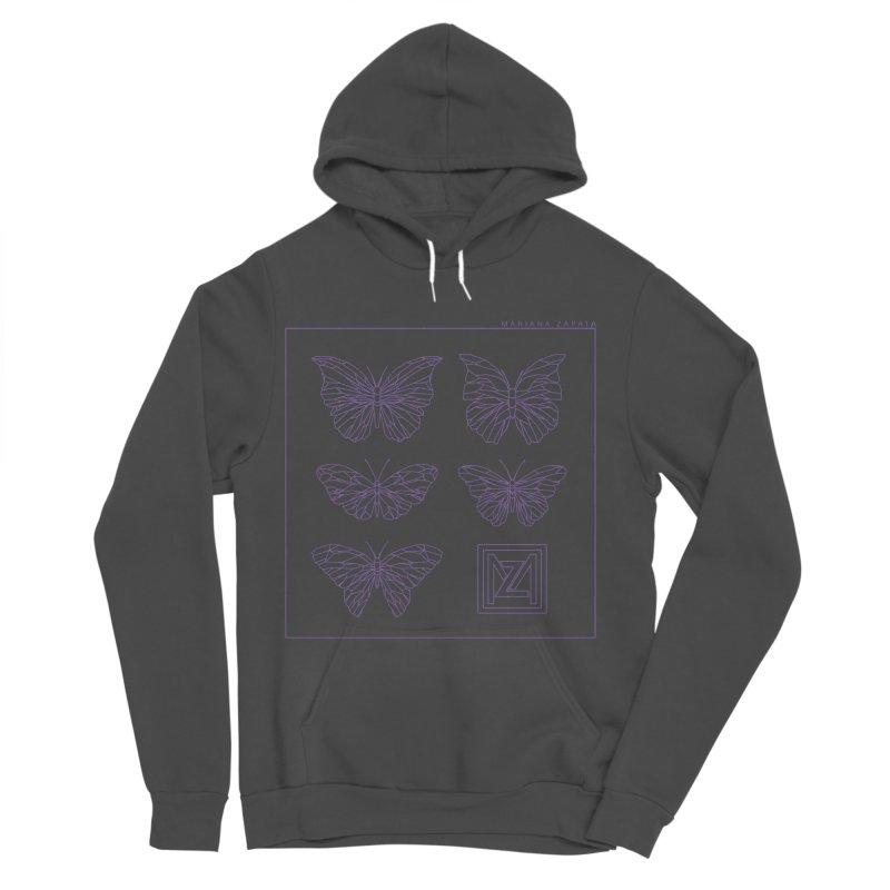 MZ Butterflies 2 Women's Sponge Fleece Pullover Hoody by M A R I A N A    Z A P A T A