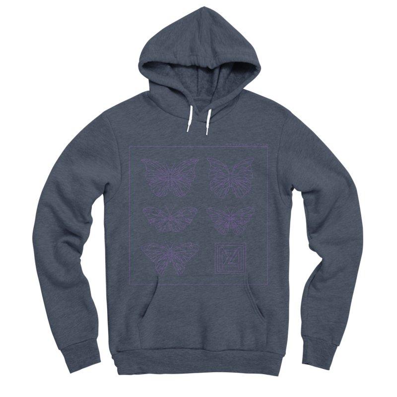 MZ Butterflies 2 Men's Sponge Fleece Pullover Hoody by M A R I A N A    Z A P A T A