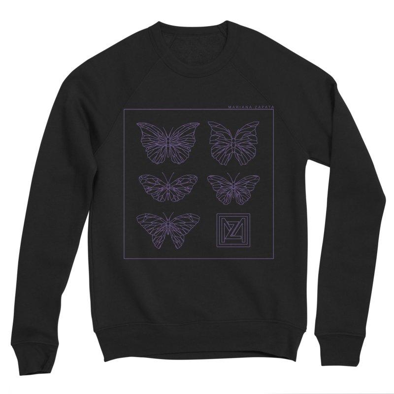 MZ Butterflies 2 Women's Sponge Fleece Sweatshirt by M A R I A N A    Z A P A T A