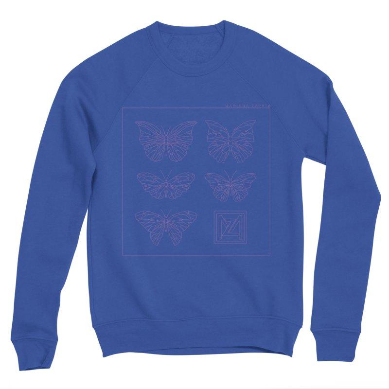MZ Butterflies 2 Men's Sponge Fleece Sweatshirt by M A R I A N A    Z A P A T A