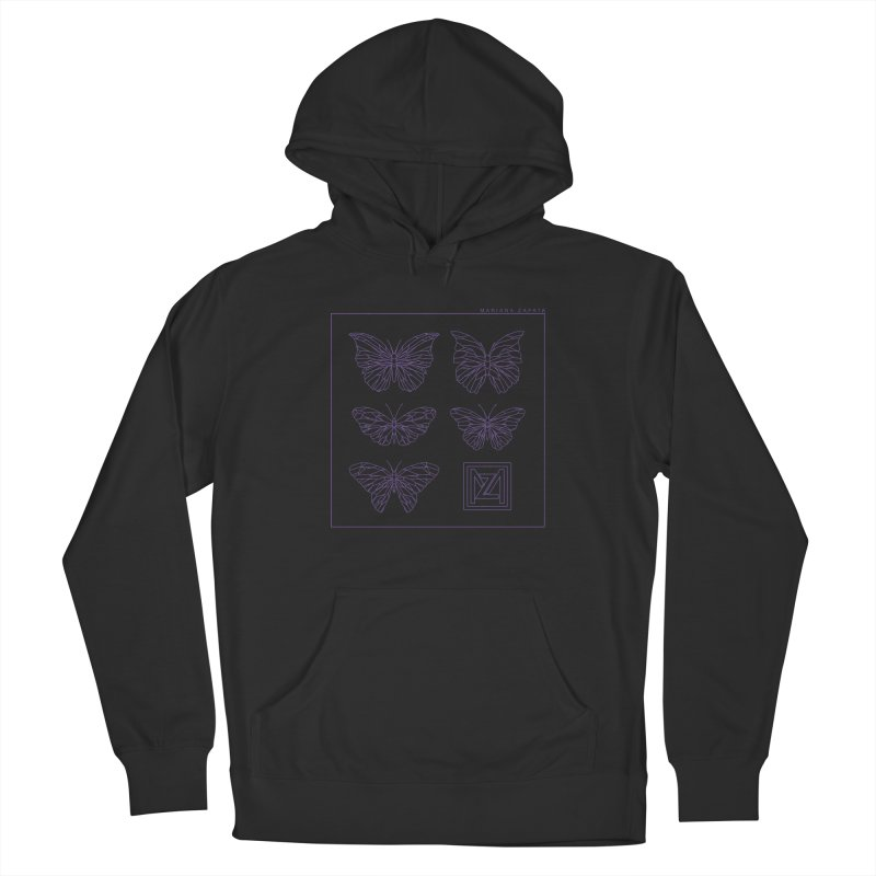 MZ Butterflies 2 Men's French Terry Pullover Hoody by M A R I A N A    Z A P A T A